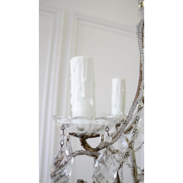 Vintage Macaroni Beaded Arm Chandelier For Sale In Los Angeles - Image 6 of 11