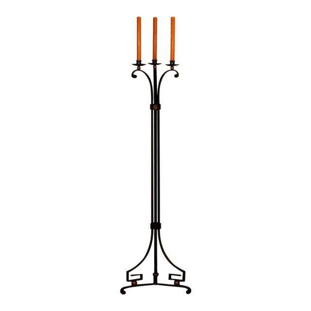 Exceptional French 40's Candelabra in the Style of Gilbert Poillerat For Sale