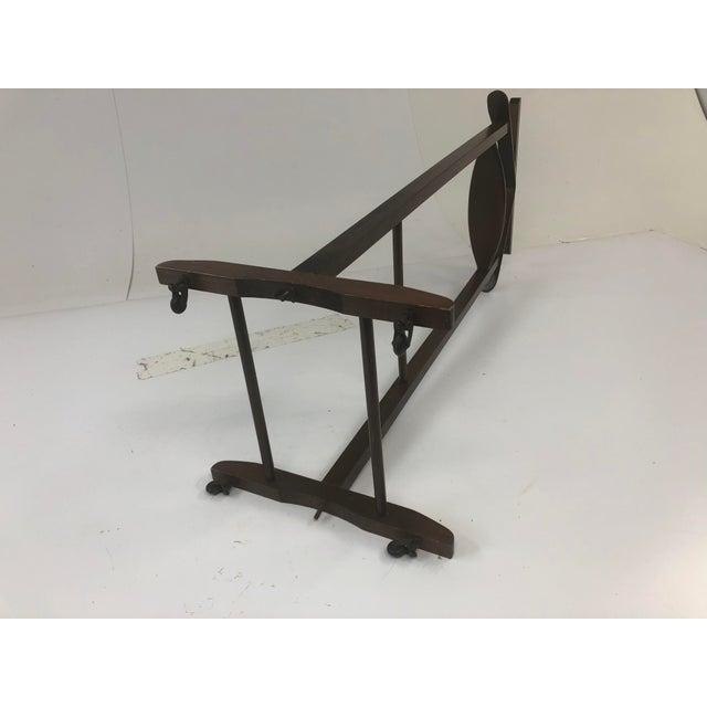 Vintage Mid Century Modern Wood Butler / Valet Hanger Stand For Sale - Image 11 of 12