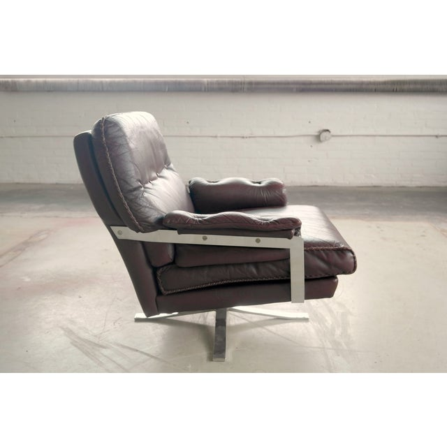 Arne Norell Hand-Stitched Leather Lounge Chair - Image 7 of 10