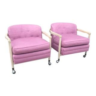 Mid Century IB Kofod Larsen Barrel Back Chairs - a Pair