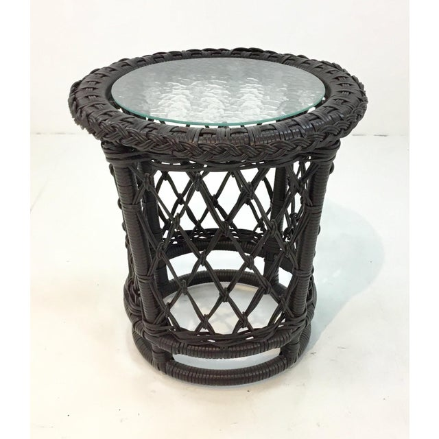 2010s Lane Venture Outdoor Accent Table For Sale - Image 5 of 5