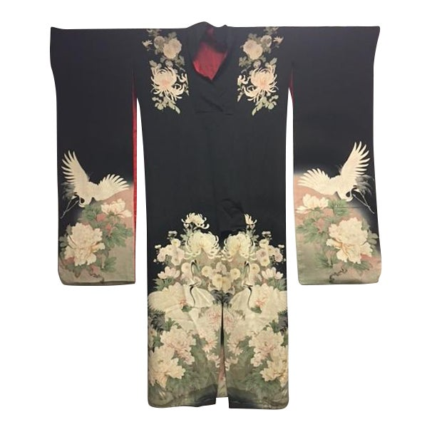 1940's Silk Screened Adult Kimono - Image 1 of 11
