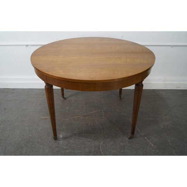 Kindel Vintage Regency Directoire Style Round Extension Dining Table - Image 2 of 10