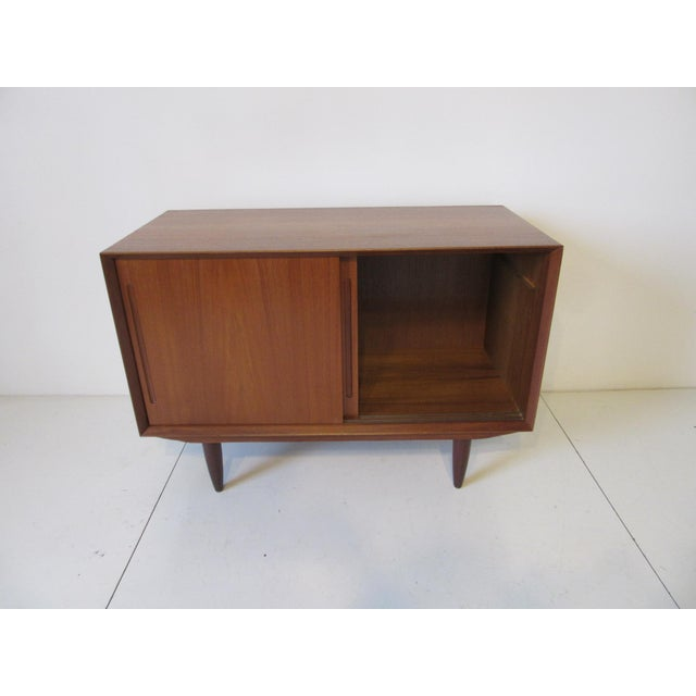 Mid 20th Century Danish Teak Wood Smaller Sized Credenza For Sale - Image 5 of 8