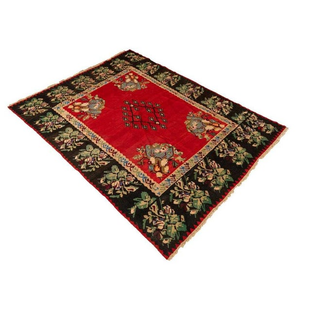 Late 20th Century Vintage Flat Woven Kilim Rug- 8′ × 10′6″ For Sale - Image 4 of 4