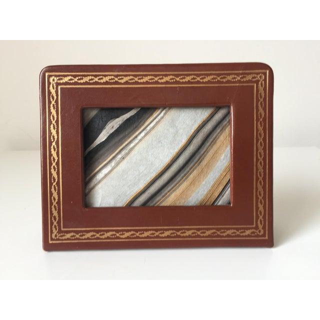 Florentine Gilt Leather Travel Frame | Chairish