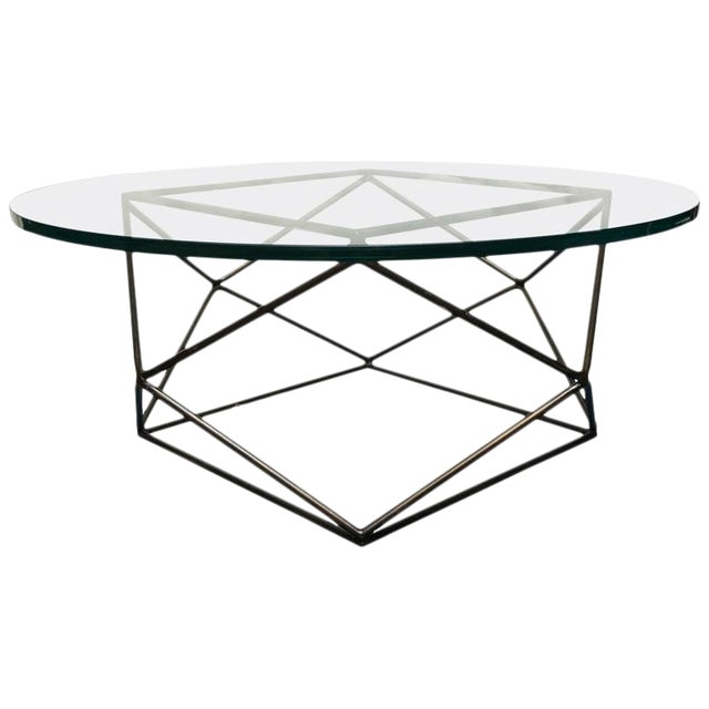 Vintage Milo Baughman for Thayer Coggin Glass Top Coffee Table For Sale