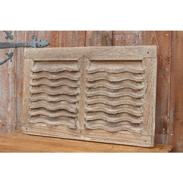 Boho Chic 19th Century Rustic Primitive Window Shutter For Sale - Image 3 of 9