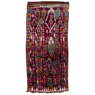 Vintage Moroccan Talsint Rug - 6′3″ × 13′4″ For Sale