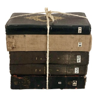 1850s French Bibliotheque Stack - Set of 5 For Sale