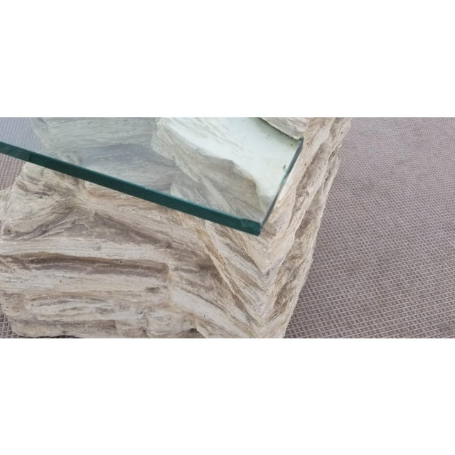Sirmos Faux Rock Plaster Side Tables - a Pair For Sale - Image 10 of 13
