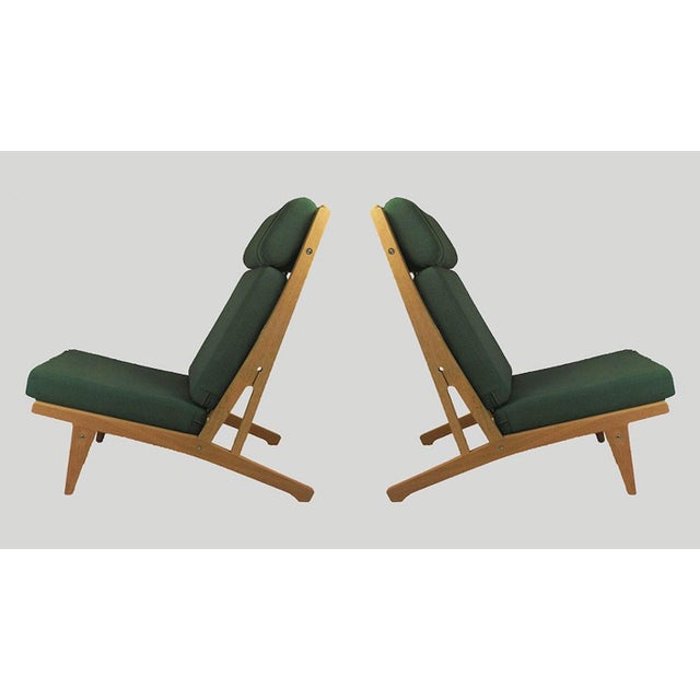 Green 1960s Vintage h.j. Wegner Lounge Chairs- A Pair For Sale - Image 8 of 8