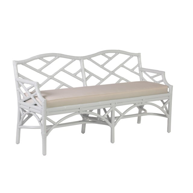 Chippendale Bench - White For Sale In West Palm - Image 6 of 6