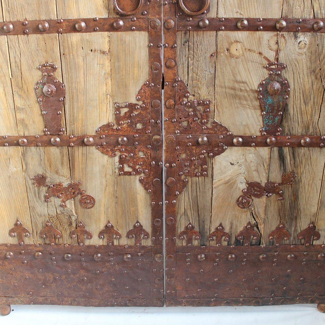 Antique chinese wood iron door chairish for Buy reclaimed wood los angeles