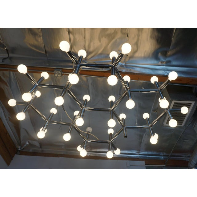 Mid-Century Modern 1960's Atomic Light Fixture by Robert Haussmann For Sale - Image 3 of 8
