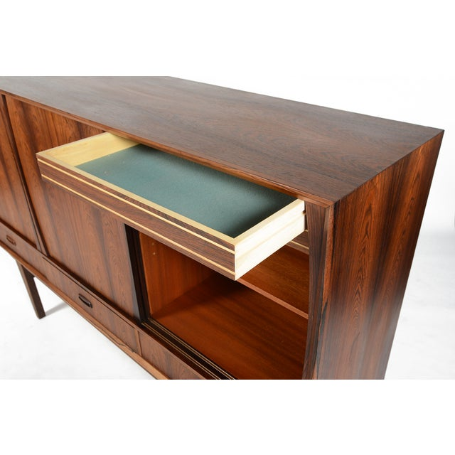 Tall Danish Modern Rosewood Credenza - Image 7 of 10