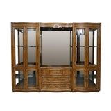 Image of Illuminated Neoclassical Wall Unit Storage Cabinet by Drexel-Heritage For Sale