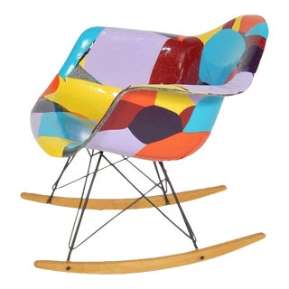 1950s Mid-Century Modern Rocker, Updated by Jim Oliveira For Sale