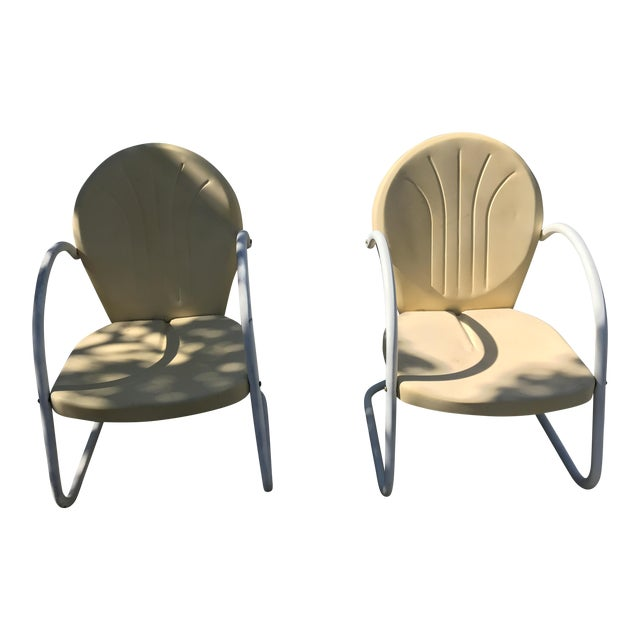 Vintage 1945 Outdoor Lounge Chairs - A Pair For Sale