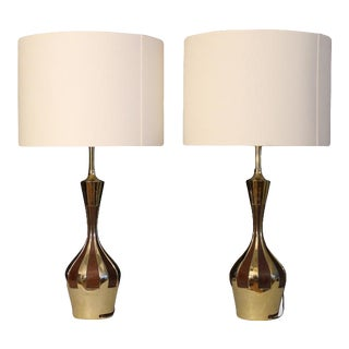 A Pair Mid Century Modern Laurel Lamps. For Sale