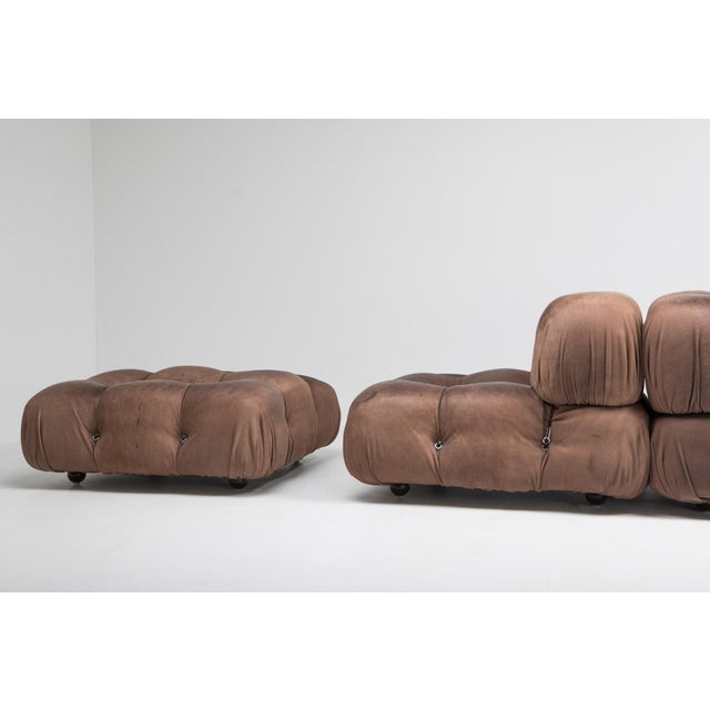 Camaleonda Lounge Chairs in Original Brown Leather by Mario Bellini - 1970s For Sale - Image 6 of 11