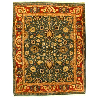 "Pasargad N Y Indian Agra Hand-Knotted Rug - 8'4"" X 10'6"" For Sale"
