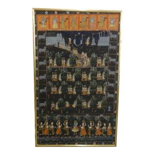 Hindu Blue Gods (Krishna, Rama ) Batik