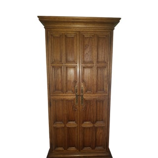 1970's Vintage Drexel Armoire Mid Century Traditional For Sale
