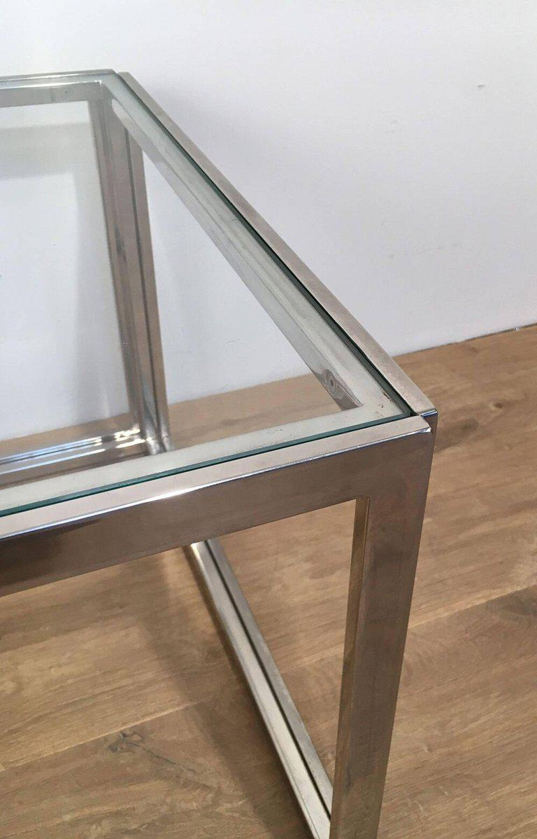 Pair Of Chrome Side Tables   Image 8 Of 11