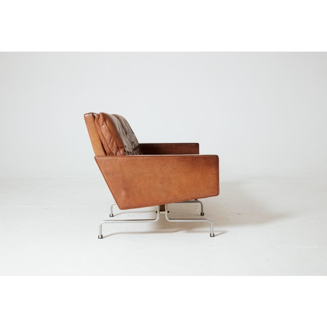 Mid 20th Century 1950s Vintage Poul Kjaerholm 'Kjærholm' for E. Kold Christensen Pk-31 Sofa For Sale - Image 5 of 11