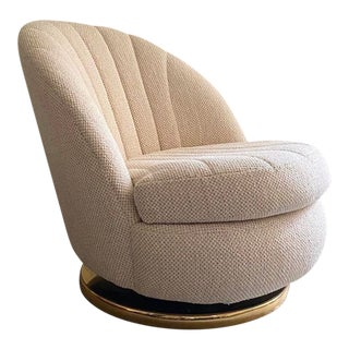 Mid Century Modern Shellback Lounge Chair Designed by Milo Baughman for Thayer Coggin For Sale