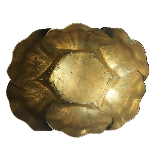 Vintage Large Shell Brass Planter or Cachepot - Image 5 of 7