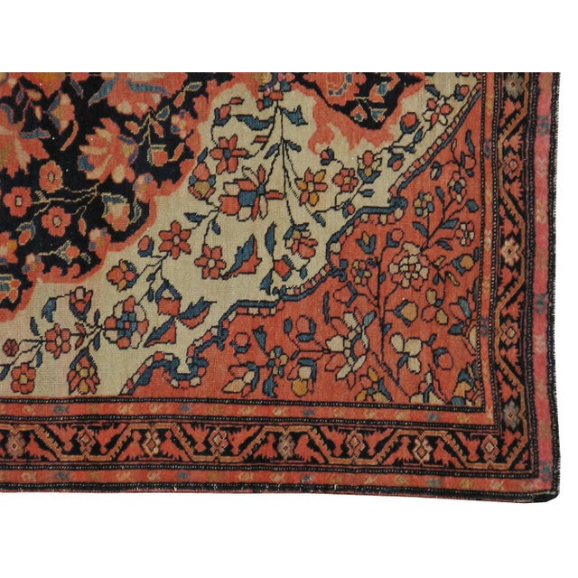 "Islamic Antique Persian Sarouk Farahan Rug - 3'3"" X 4'1"" For Sale - Image 3 of 3"