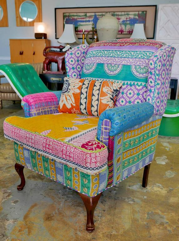 Bohemian Style Wingback Chair   Image 2 Of 5