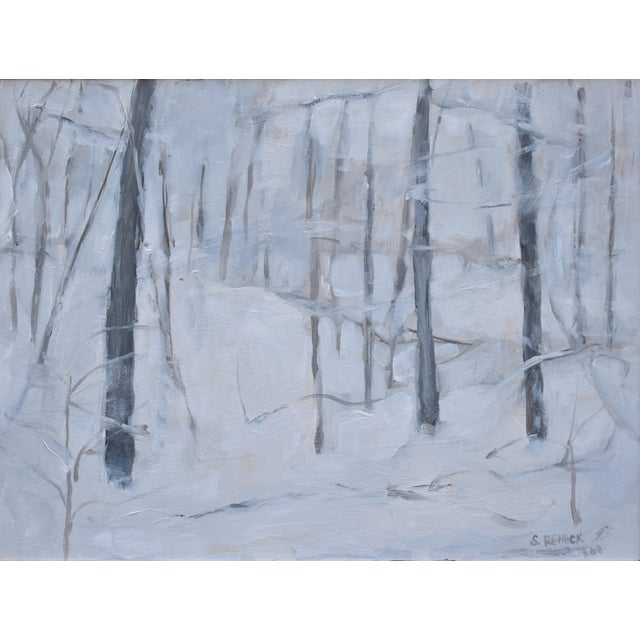 "Abstract Modern ""Snow Squall"" Contemporary Painting by Stephen Remick For Sale - Image 3 of 7"