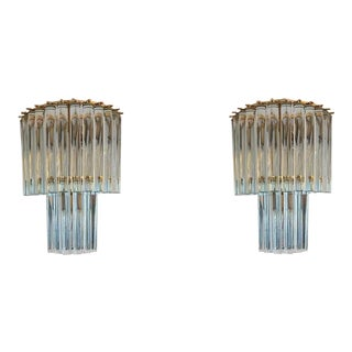 1970s Mid-Century Modernist Murano Sconces - a Pair For Sale