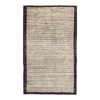 Contemporary Hand Woven Rug - 3'6 X 5'11 For Sale