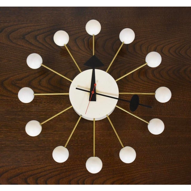 White George Nelson White Ball Clock For Sale - Image 8 of 8