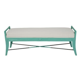 Malacca Bench - Turquoise For Sale