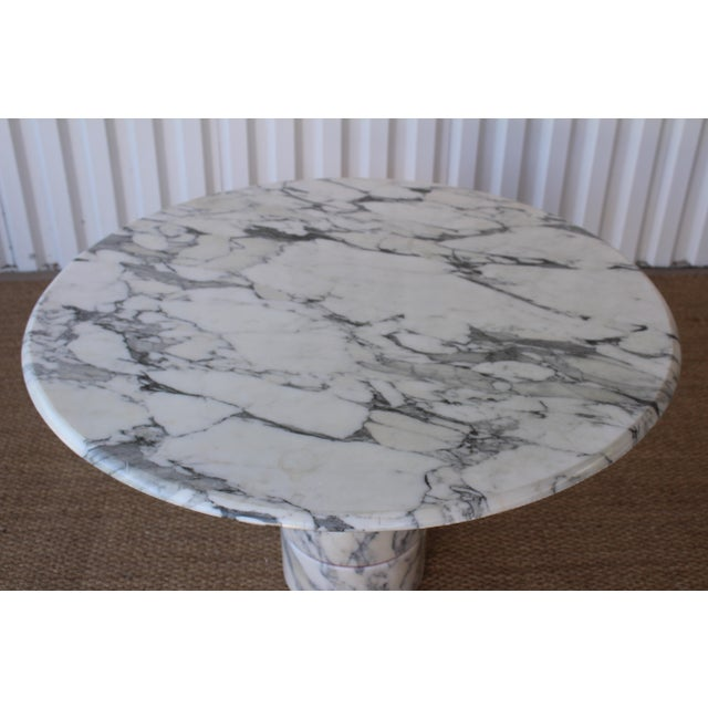 Vintage 1970s Post-Modern Italian Marble Dining Table For Sale - Image 9 of 12
