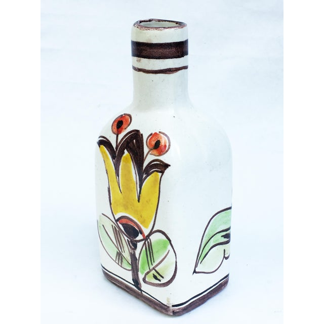 Giovanni Desimone 1960s Italian Pottery Vase Bottle Signed DeSimone For Sale - Image 4 of 7