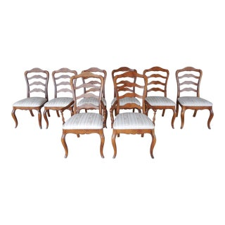 Set of 8 Ethan Allen Country French Ladder Back Chairs 26-6310 Finish 236