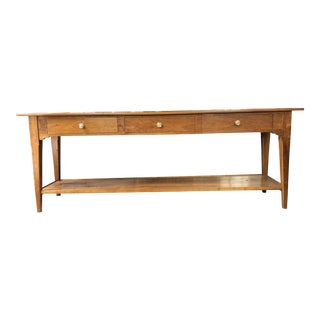20th Century French Country Cherry Sofa Console For Sale