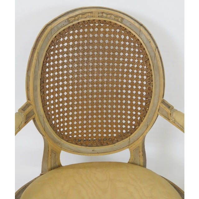 Antique Louis XVI Style Caned Fauteuils - Pair - Image 3 of 7