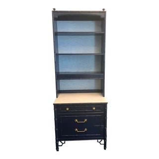 Thomasville Chinoiserie Painted Chest/Bookcase For Sale