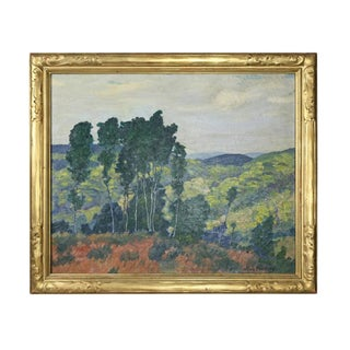 Framed Oil Painting on Canvas by Alfred Feinberg With Newcomb Macklin Frame For Sale