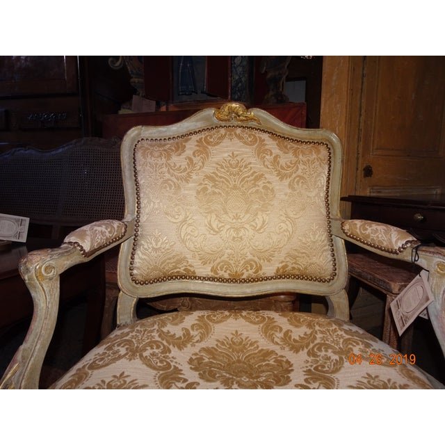Pair of 19th Century Italian Fauteuils For Sale - Image 9 of 13