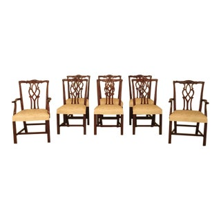 1980s Vintage Kindel Oxford Mahogany Dining Chairs - Set of 8 For Sale
