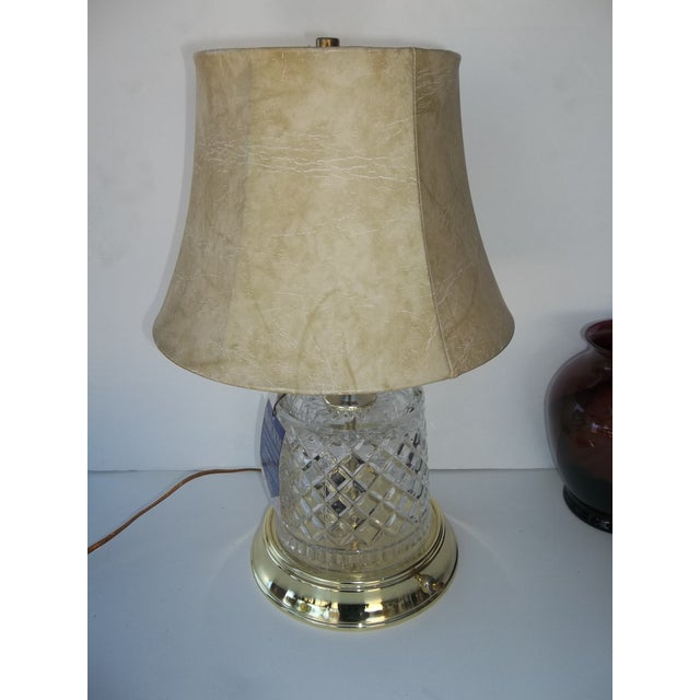 Alsy Lighting Vintage Crystal & Brass Table Lamp - Image 2 of 5